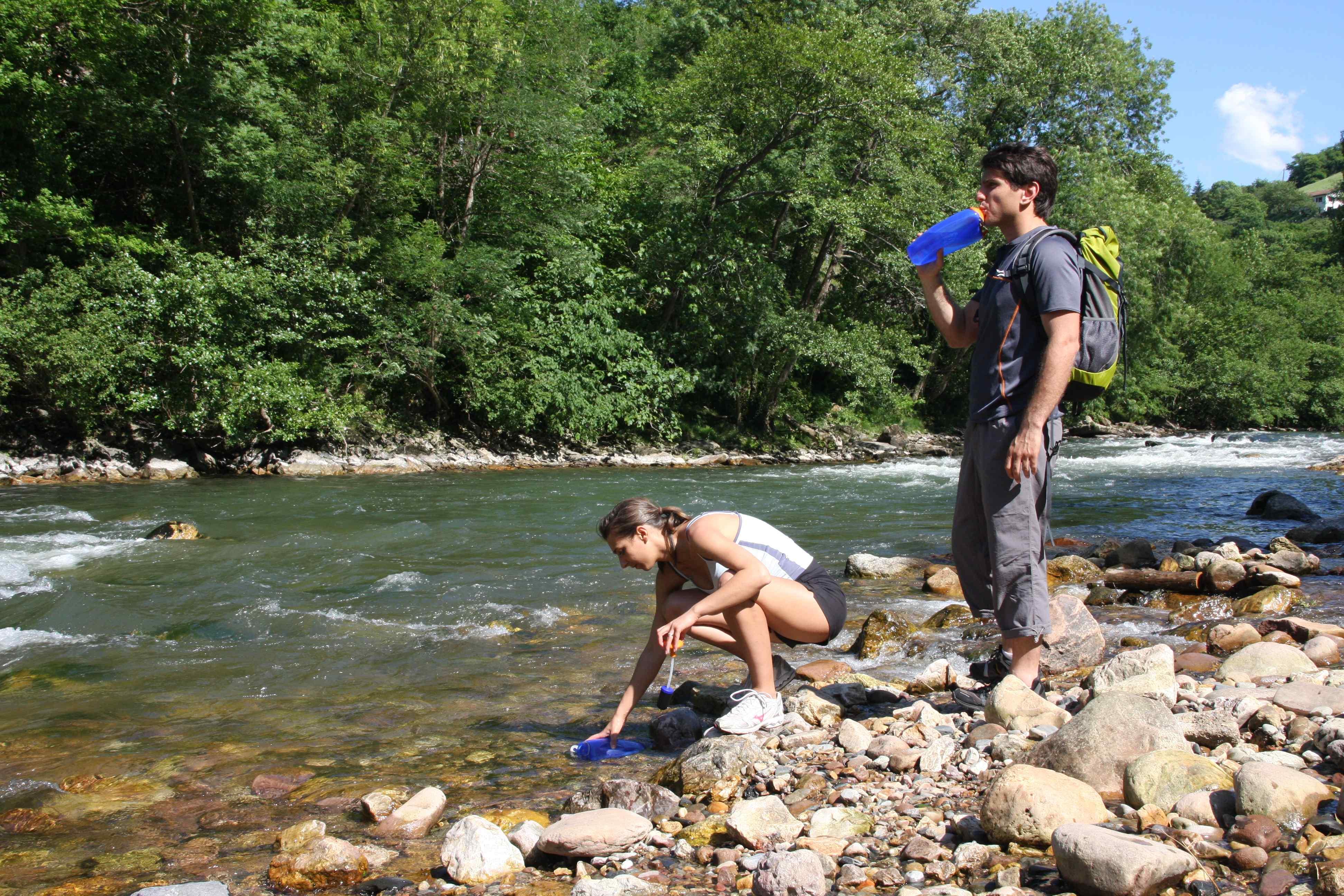 Filtration eau en randonnée
