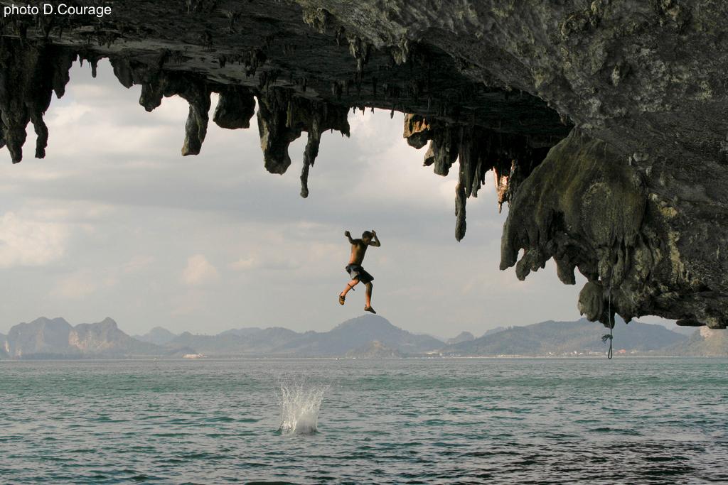 Deep-water solo