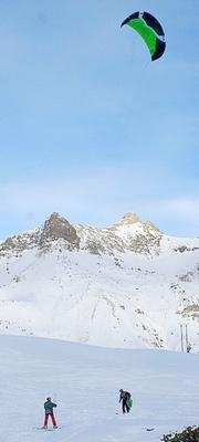 Snowkite au lautaret